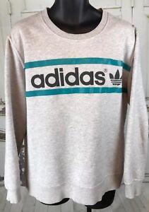 Vintage-ADIDAS-Trefoil-Sweatshirt-Mens-Crewneck-Spellout-Logo-Men-XL