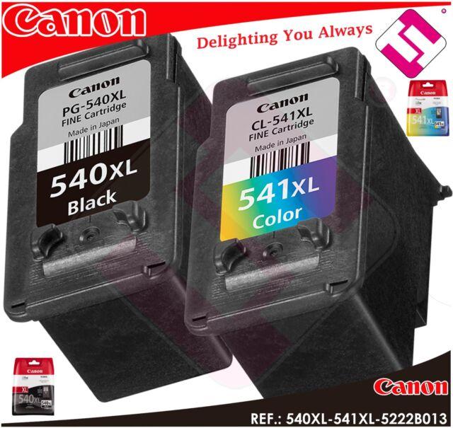 Pack Ink Canon PG540XL CL541XL Original Cartridge Black Tricolour Printer