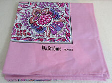 """New Valdrome 30"""" + Square Pink  Design Table Topper Scarf French France Country"""
