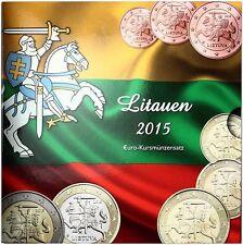 Litauen 3,88 Euro 2015 KMS Vytis, der Verfolger 1 Cent bis 2 Euro im Folder