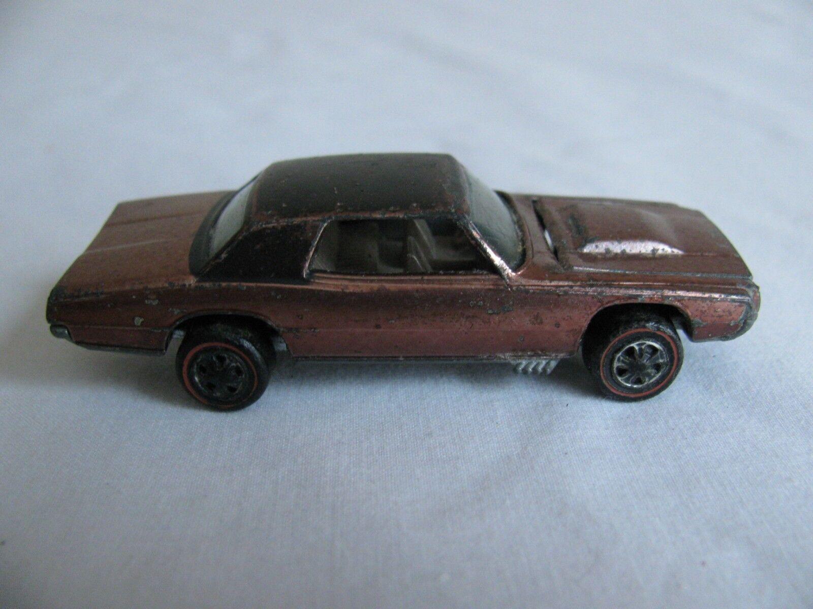 Vintage 1967-68 Mattel Hot Wheels rossoline Marronee con nero Superior Personalizado T Pájaro
