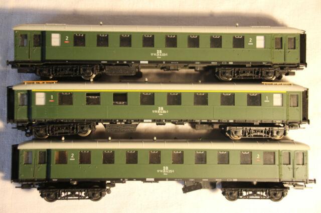 #29   3 Eilzugwagen A/Büme 2. und 1. Klasse der DR von Sachsenmodelle, 2x in OVP