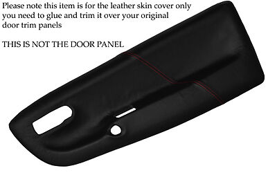 RED STITCHING FITS VW LUPO 1998-2005 2X FRONT DOOR CARD LEATHER SKIN COVERS ONLY