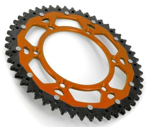 Kit Chaine KTM EXC+F 125//250//300//350//400//450 91 à 2020 Renforcé BI ORANGE 13x50