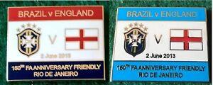 Brazil-v-England-150th-FA-Anniversary-Friendly-Rio-De-Janeiro-2-June-2013-Badge