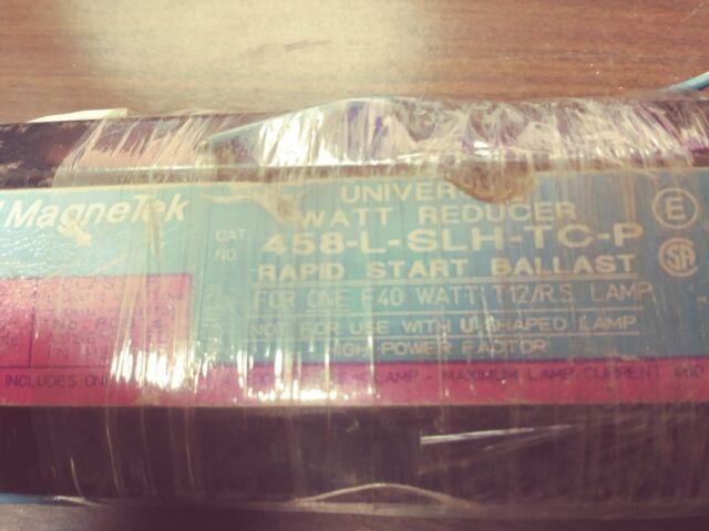 MAGNETEK 458-L-SLH-TC-P UNIVERSAL FLUORESCENT BALLAST 277 VOLT 1 LAMP TAKE OUT