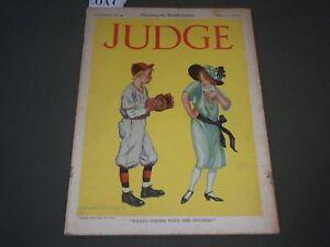 cd2447fd771796 1923 OCTOBER 6 JUDGE MAGAZINE - OPPOSING THE WORLD SERIOUS - FLAGG ...