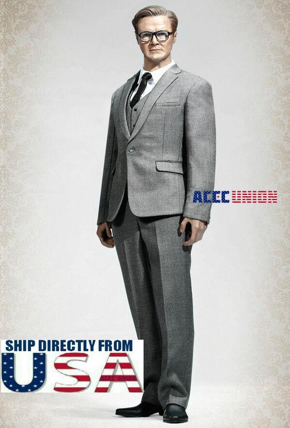 1/6 Men Geschäft Suit Set grau Farbe For 12