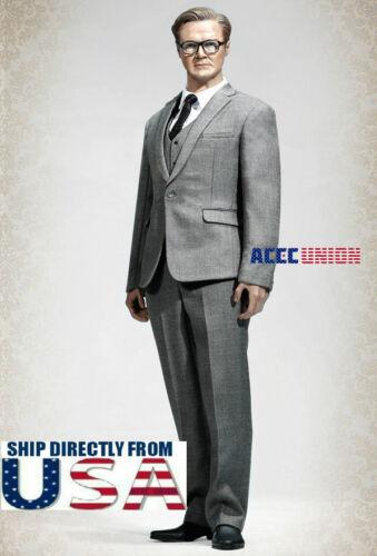 """1//6 Men Business Suit Set GRAY Color For 12/"""" Hot Toys PHICEN Male Figure U.S.A."""