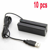 10pcs/lot Msr Credit Card Reader Machine Portable Mini Usb Magnetic Stripe Swipe