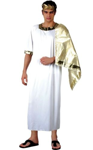 Adult ANCIENT GREEK God Caesar Toga Fancy Dress Costume Male Mens Stag Party
