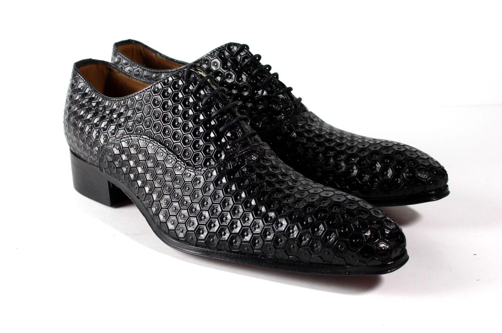 Ivan Troy Schwarz Bayern Handgefertigt Italienisches Leder Formelle Schuhe Schuhe Schuhe   1d4e3c