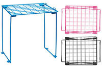 School Wire Locker Organizer Storage Shelf College Stand Student Pink Blue Black