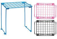 School Wire Locker Organizer Storage Shelf College Stand Student Pink Blue Black