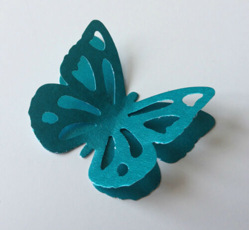 Makes 15! Garden Butterfly Pearl /& Shiny Paper! Multi Listing!