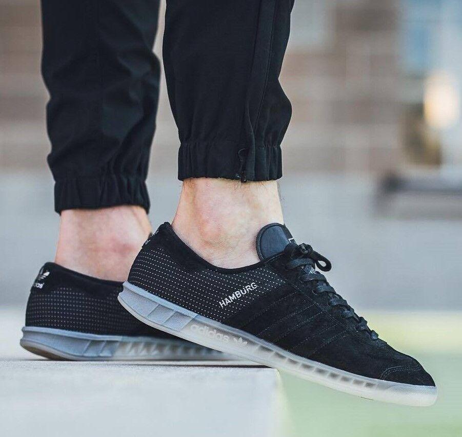 Adidas amburgo + + raro + + velluto nero / halfshoe nuovi spezial samba