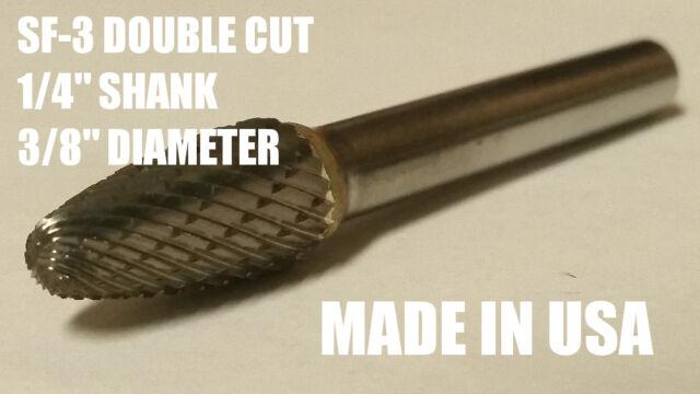 "SF3D Tree Shape Tungsten Carbide Burr Bur Cutting Tool Die Grinder Bit 1//4/"" US"