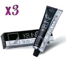 3 x Keune Tinta Color Permanent Hair Color (SELECT YOUR SHADES) 60ml each Tube