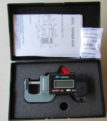 MICROMETER METAL CONSTRUCTION 8mm HIGH Digital LCD DISPLAY WITH STORAGE CASE
