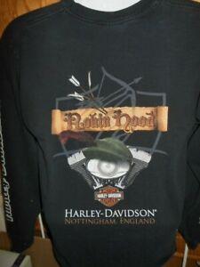 Harley Davidson Motorcycle England T Shirt Long Sleeve Adult L Ebay