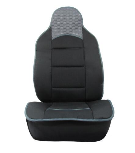 2x Sitzauflage Sitzkissen Sitzmatten Rückenkissen Grau Kunstleder+Schwarz Stoff