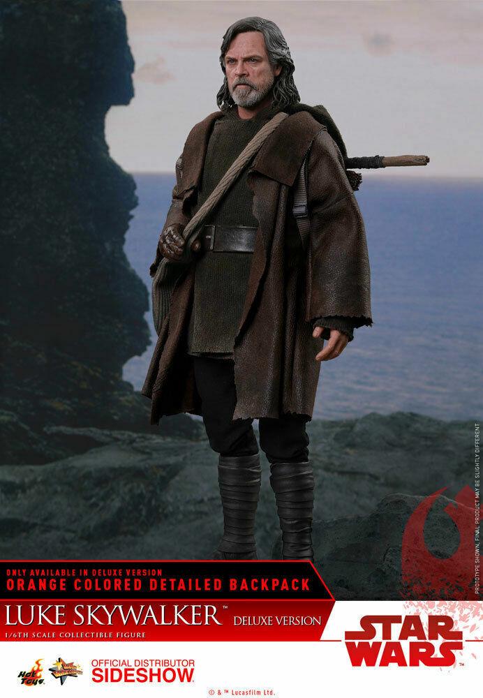Hot Juguetes Luke Skywalker (Deluxe) Estrella Wars The Last Jedi 1 6 MMS458 In Stock