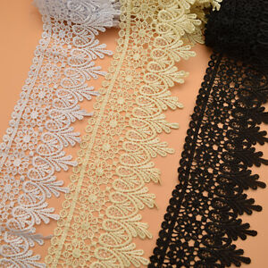 14-5yards-Venise-Lace-trim-wedding-DIY-crafted-sewing-white-black-beige