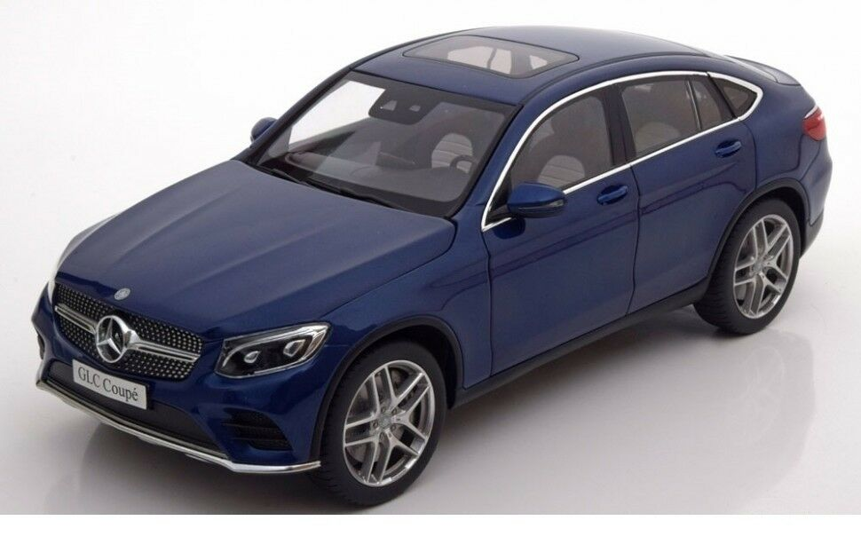 IScale Mercedes-Benz GLC C253 Coupe 2016 bluee Model Car 1 18 Genuine New