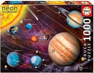 Educa-Sistema-Solar-Neon-Fluorescente-1000-PC-Rompecabezas-PL