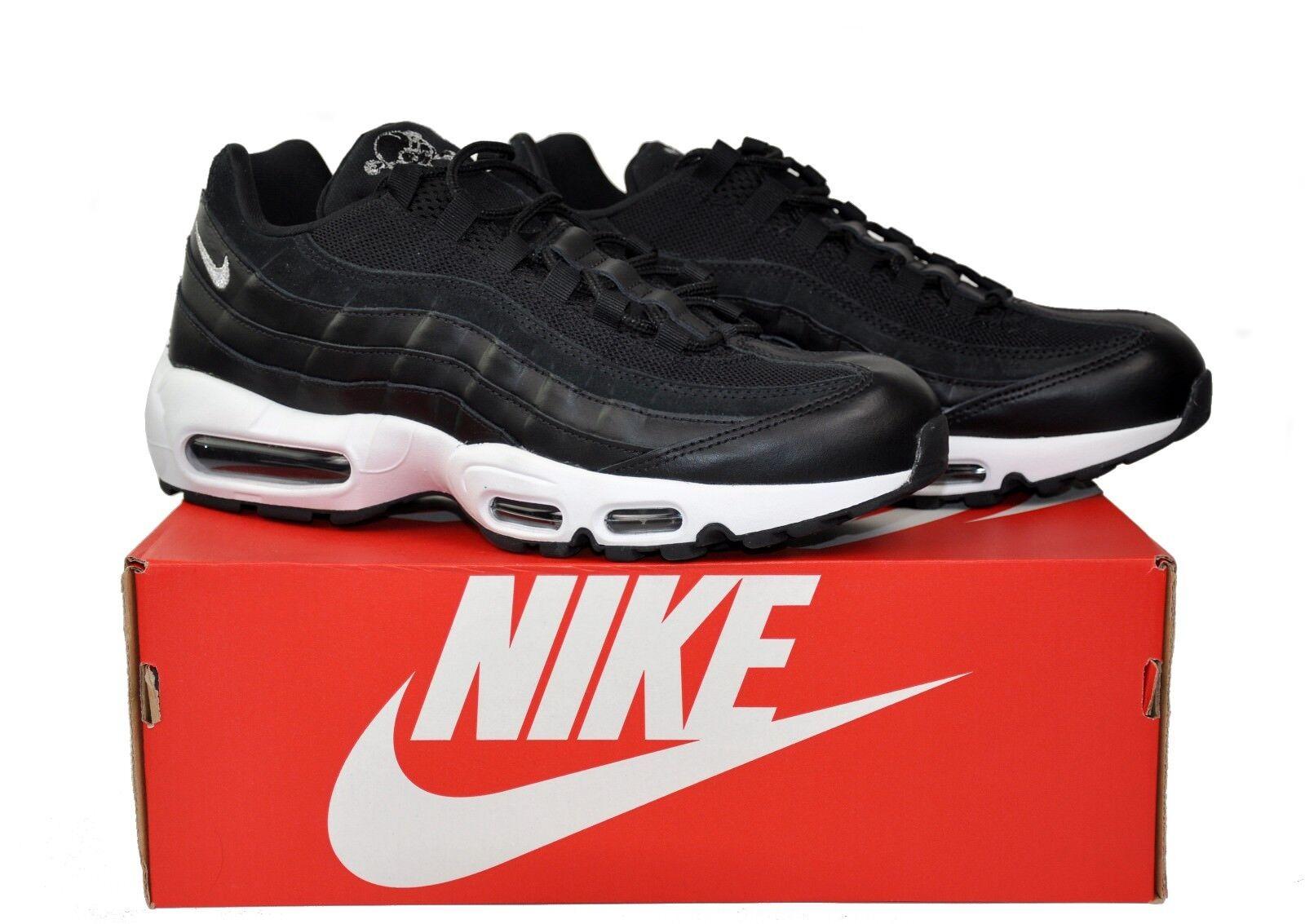Nike AIR MAX 95 Premium Rebel Skulls Black 11.5 Chrome 538416-008 Leather Sz 11.5 Black 11 9369ae