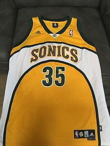 pretty nice 4813a 2ae82 Details about Authentic Rookie Kevin Durant Jersey Seattle Sonics not  Warriors Sz XL