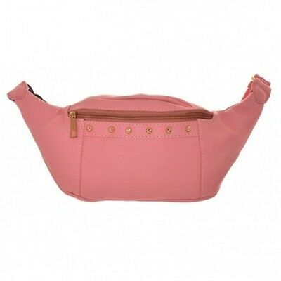 Womens Gold Stud Bum Bag Ladies Belt Hip Travel Shopkeeper Waist Strap Bag