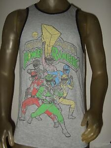 7a95bec9d New Men's Gray The Mighty Morphin Power Rangers Sabans Graphic Tank ...