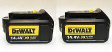 2 pack - New Original DeWALT Li-Ion Battery DCB140 XR 14,4V 3.0Ah 44Wh