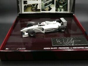 Minichamps-1-43-Jos-Verstappen-Honda-RA099-Prototype-F1-1999-special-SIGNED-COA
