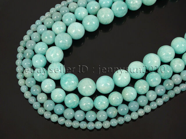 Natural Brazil Amazonite Gemstone Round Spacer Beads 15'' 4mm 6mm 8mm 10mm 12mm