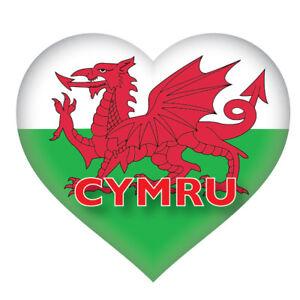 2 X Welsh Heart Wales Flag Car Van Decal Sticker Ebay