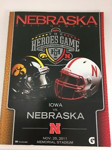 NEBRASKA HEROES GAME PROGRAM IOWA HAWKEYES VS NEBRASKA ...