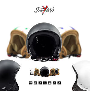 SOXON-SP-301-CASQUE-MOTO-JET-DEMI-JET-HELMET-SCOOTER-RETRO-CHOPPER-XS-XL