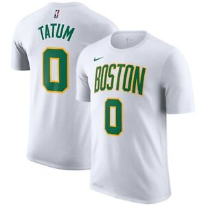 4dddcecb19f65 Nike 2018-2019 Boston Celtics Jayson Tatum 0 City Edition Dri-FIT ...