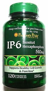 510mg-IP-6-Inositol-Hexaphosphate-120-Capsules-Natural-Gluten-Free-Pill