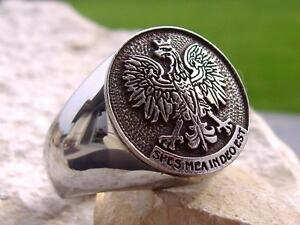 Polish eagle ring steel silver poland orzel polonia patch pendant image is loading polish eagle ring steel silver poland orzel polonia aloadofball Choice Image