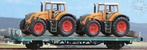 ACME-40327-TANK-plate-forme-Kgps-x-FS-avec-cargaison-due-tracteurs-WIKING-ep-V