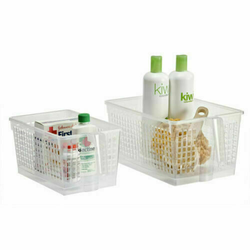Nouveau Plastique Pratique Panier Paniers de Rangement Tidy Organisateur Pharmacie Maison Bureau