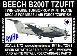 Rvhp-Models-72081-1-72-Beech-B200T-Tzufit-Resine-Kit-Neuf