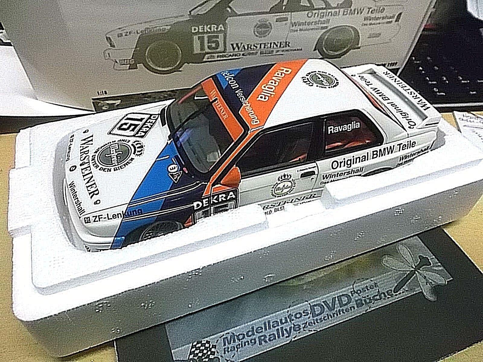BMW M3 E30 EVO DTM Ravaglia Champion 1989 Meister Warsteiner Minichamps 1 18