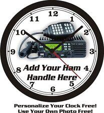 HAM/CB RADIO HOBBY WALL CLOCK-FREE PERSONALIZATION @ FREE USA SHIPPING!