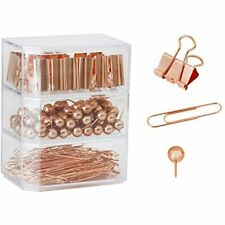 Binder Paper Clips Set Clamp Clips Desk Accessory Rosegold 182 Office