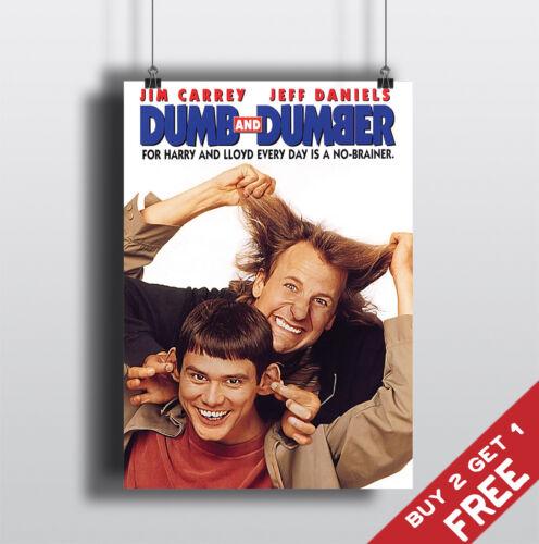 Dumb and Dumber 1994 MOVIE POSTER Jim Carrey Film A3 A4 Art Print Home Wall Deco