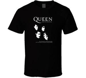 Queen-Rock-Band-new-Bohemian-shirt-black-white-tshirt-men-039-s-free-shipping